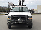 Elliott ECA-41I-A, Articulating & Telescopic Bucket Truck, mounted behind cab on, 2002 Ford F550 4x4 Service Truck