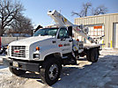 Elliott ECE-3-65, Non-Insulated Platform Lift, mounted behind cab on, 1998 GMC C7500 Flatbed Truck