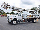Elliott ECG-4-85, Telescopic Non-Insulated Platform Lift, rear mounted on, 1996 Ford F800 Flatbed Truck