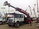 Elliott ECH-5-110-H3MH, Telescopic Platform/Hydraulic Crane rear mounted on 2007 International 7400 T/A Crew-Cab Flatbed/Utility Truck