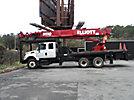 Elliott ECH5-110-L3C, Telescopic Platform/Hydraulic Crane, rear mounted on, 2004 International 7400 T/A Extended-Cab Flatbed Truck