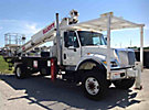 Elliott G85F-MHUS, Telescopic Platform/Hydraulic Crane, mounted behind cab on, 2005 International 7400 4x4 Flatbed Truck