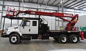 Elliott G85R-MHA, Telescopic Platform/Hydraulic Crane, rear mounted on, 2006 International 7400 T/A Flatbed/Utility Truck
