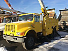 HiRanger 42-OM, Material Handling Bucket Truck rear mounted on 1997 International 4900 Utility Truck