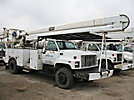 HiRanger 5FB-55, Bucket Truck, rear mounted on, 2000 GMC C7500 Utility Truck