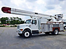 HiRanger 5FB-55, Bucket Truck rear mounted on 1999 International 4900 Utility Truck