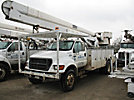 HiRanger 5FC-55, Bucket Truck, rear mounted on, 2000 Ford F750 Utility Truck