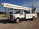 HiRanger 5FC-55, Bucket Truck, rear mounted on, 2007 Ford F750 Utility Truck
