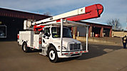 HiRanger 5FC-55, Bucket Truck rear mounted on 2005 Freightliner M2 106 Utility Truck