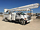 HiRanger 5FC-55, Bucket Truck rear mounted on 2007 Ford F750 Utility Truck