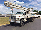 HiRanger 5FI-48PBI, Bucket Truck rear mounted on 1986 Ford F800 Flatbed/Utility Truck