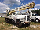 HiRanger 5FI-48PBI, Bucket Truck rear mounted on 1990 Ford F800 Flatbed/Utility Truck