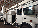 HiRanger 5TC, Material Handling Bucket Truck rear mounted on 1999 Freightliner FL80 Utility Truck