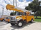 HiRanger 5TC-52, Material Handling Bucket Truck, rear mounted on, 2002 International 7400 4x4 Utility Truck