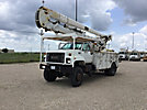 HiRanger 5TC-55, Articulating & Telescopic Material Handling Bucket Truck, rear mounted on, 2001 GMC C8500 Utility Truck