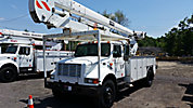 HiRanger 5TC-55, Material Handling Bucket Truck, rear mounted on, 2000 International 4700 Utility Truck