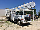 HiRanger 5TC-55, Material Handling Bucket Truck rear mounted on 2005 Ford F750 Flatbed/Utility Truck
