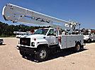 HiRanger 5TC-55MH, Material Handling Bucket Truck, rear mounted on, 2000 GMC C7500 Utility Truck