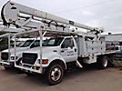 HiRanger 5TC-55MH, Material Handling Bucket Truck, rear mounted on, 2001 Ford F750 Flatbed/Utility Truck