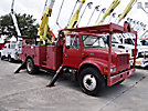 HiRanger 5TC-55MH, Material Handling Bucket Truck, rear mounted on, 2002 International 4900 Utility Truck
