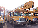 HiRanger 5TC-55MH, Material Handling Bucket Truck rear mounted on 2004 International 4300 Utility Truck