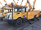 HiRanger 5TC-55MH, Material Handling Bucket Truck rear mounted on 2004 International 4400 Utility Truck