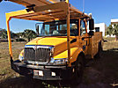 HiRanger 5TC-55MH, Material Handling Bucket Truck rear mounted on 2005 International 4300 Utility Truck