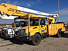 HiRanger 5TC-55MH, Material Handling Bucket Truck rear mounted on 2006 International 4300 Utility Truck
