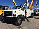 HiRanger 6H-65MH, Material Handling Bucket Truck rear mounted on 2000 GMC 7500 Flatbed/Utility Truck