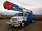 HiRanger 6TC-65, Bucket Truck, rear mounted on, 2000 International 4900 T/A Utility Truck