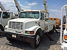 HiRanger HR-55MH, Material Handling Bucket Truck, rear mounted on, 2001 International 4900 Utility Truck