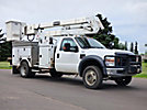 HiRanger HR37-M, Material Handling Bucket Truck center mounted on 2009 Ford F550 4x4 Service Truck
