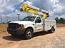 HiRanger HR37-M, Material Handling Bucket Truck rear mounted on 2001 Ford F550 Service Truck