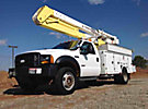 HiRanger HR40-M, Material Handling Bucket Truck, rear mounted on, 2006 Ford F550 4x4 Service Truck