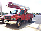 HiRanger HR40-M, Material Handling Bucket Truck mounted behind cab on 2008 GMC C5500 4x4 Utility Truck