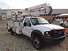 HiRanger HR40-MH, Material Handling Bucket Truck center mounted on 2006 Ford F550 4x4 Service Truck