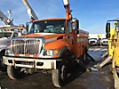 HiRanger HR42-MH, Material Handling Bucket Truck center mounted on 2004 International 7300 4x4 Utility Truck