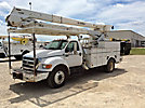 HiRanger HRX55-M, Material Handling Bucket, rear mounted on, 2008 Ford F750 Utility Truck