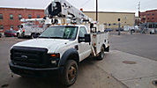 HiRanger LT38, Articulating & Telescopic Bucket Truck, mounted behind cab on, 2008 Ford F550 4x4 Service Truck