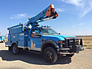 HiRanger LT38, Articulating & Telescopic Bucket Truck mounted behind cab on 2008 Ford F550 4x4 Service Truck