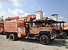 HiRanger SCII-47, Over-Center Bucket Truck, mounted behind cab on, 2001 GMC C7500 Chipper Dump Truck