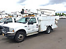 HiRanger TL36-P, Articulating & Telescopic Bucket Truck mounted behind cab on 2003 Ford F550 4x4 Service Truck