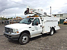HiRanger TL36-P, Articulating & Telescopic Bucket Truck mounted behind cab on 2004 Ford F550 4x4 Service Truck