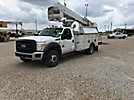 HiRanger TL37-M, Articulating & Telescopic Material Handling Bucket Truck, mounted behind cab on, 2011 Ford F550 Service Truck