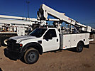 HiRanger TL37-MH, Articulating & Telescopic Material Handling Bucket Truck, mounted behind cab on, 2008 Ford F550 4x4 Service Truck