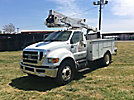 HiRanger TL38, Articulating & Telescopic Bucket Truck mounted behind cab on 2011 Ford F750 Utility Truck