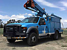 HiRanger TL38, mounted behind cab on, 2008 Ford F550 4x4 Service Truck