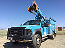 HiRanger TL38-P, Articulating & Telescopic Bucket Truck, mounted behind cab on, 2008 Ford F550 4x4 Service Truck, No manuals