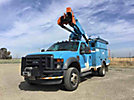HiRanger TL38-P, Articulating & Telescopic Bucket Truck, mounted behind cab on, 2008 Ford F550 4x4 Service Truck