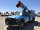 HiRanger TL38-P, Articulating & Telescopic Bucket Truck, mounted behind cab on 2008 Ford F550 4x4 Service Truck,